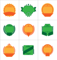 Set of flat badges and ribbons vector image vector image