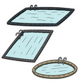 set of swimming pool vector image