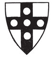 shield with roundels is an example of a heraldic vector image vector image