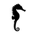 silhouette of black seahorse vector image vector image