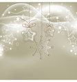 Silver lights Christmas background with stars vector image vector image