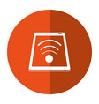 smartphone connected wifi internet button shadow vector image