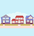 the street of the american suburbs vector image