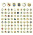 Thin Line Icons For Business vector image vector image