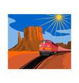 Train in Desert vector image vector image