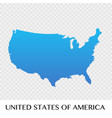 united states of america map in north america vector image