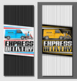 vertical banners for express delivery vector image