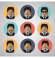 Vintage businessman emotion vector image vector image