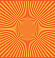 yellow-orange rays of light in radial arrangement vector image