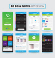 notes mobile apps design vector image