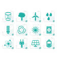stylized ecology energy and nature icons vector image
