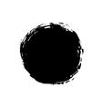 Grunge background circle black vector image