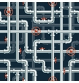 Water pipeline seamless pattern vector image