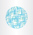 abstract globe earth technology icon vector image