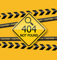 404 error page not found label vector image vector image
