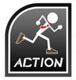action emblem vector image vector image