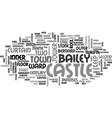 barnard castle text word cloud concept vector image vector image