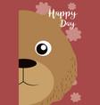 bear cute animal cartoon card vector image vector image
