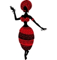 Beautiful black woman African woman with ornament vector image