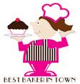 Best Baker vector image vector image