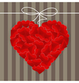 Big heart made of many small red hearts vector image