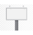 billboard isolated on the alpha white background vector image vector image