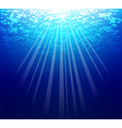 Blue sea underwater vector image