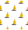 boat with yellow sail pattern seamless vector image vector image