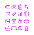 business office icon set - graphic vector image