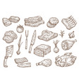 butcher shop meat and barbecue cooking sketch