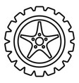 car wheel icon outline style vector image vector image