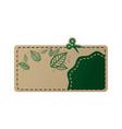 card eco green vector image vector image