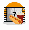 cinema food with tape counter vector image vector image