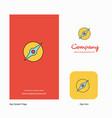 compass company logo app icon and splash page vector image vector image