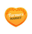 creative logo for farmers market - rye wheat vector image