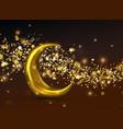 crescent golden moon vector image vector image