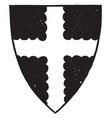 cross engrailed have dark four parts vintage vector image vector image