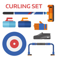 Curling Equipment Set vector image