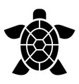 cute turtle icon simple style vector image