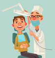 dentist and patient characters vector image