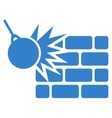 Destruction icon from Business Bicolor Set vector image