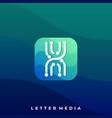 digital media icon application template vector image vector image