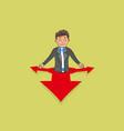 follow the red arrows vector image vector image