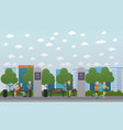 free wi-fi zone in the park flat vector image