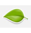 Green Leaf Sticker Design template vector image vector image