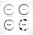 halftone incomplete circle frame dots set vector image vector image