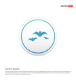 halloween bat icon hexa white background icon vector image