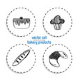 hand drawn fast food sticker set blackboard icon vector image vector image