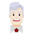 happy business man flat icon vector image vector image