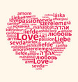 heart and love in different languages vector image